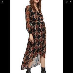 SCOTCH & SODA Long Sleeve Maxi Dress In Combo L